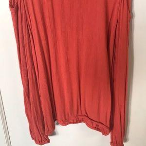 Tops - Ella Moss Persian Red Open Shoulder Sleeve S